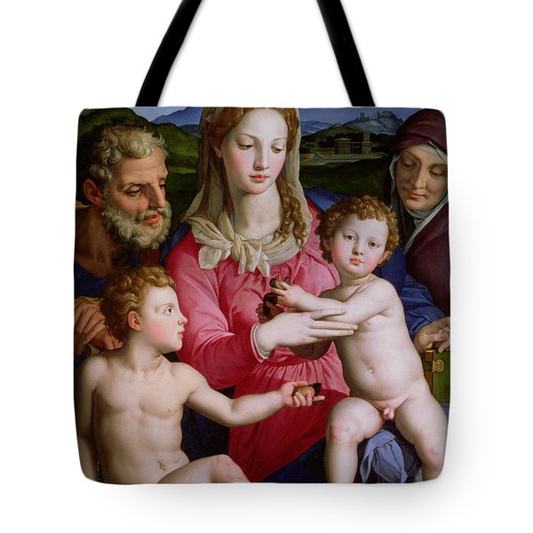 Holy Family With St Anne And The Infant St John The Baptist Tote Bag by Agnolo Bronzino