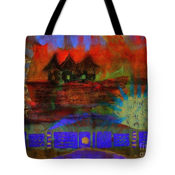 Home is Where We LIVE Tote Bag by Angela L Walker