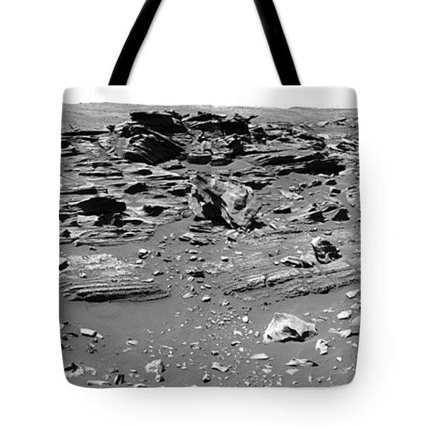 Home Plate, Mars Tote Bag by Nasa
