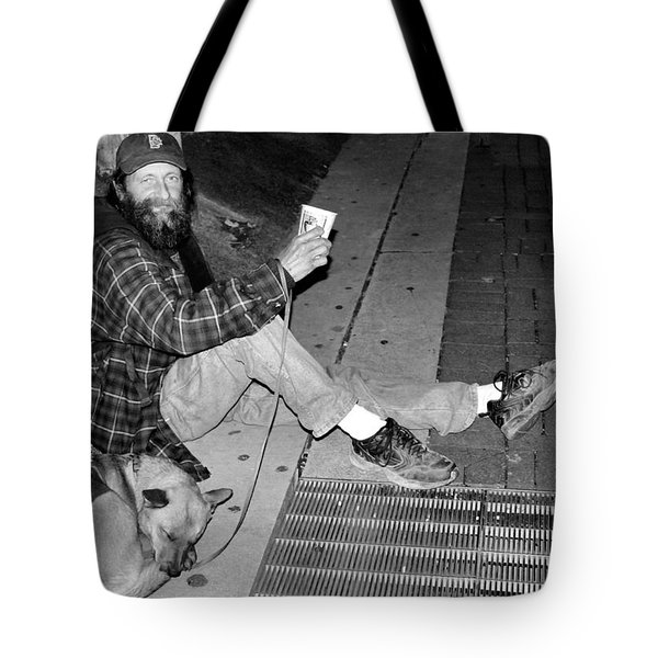 Homeless with Faithful Companion Tote Bag by Kristin Elmquist