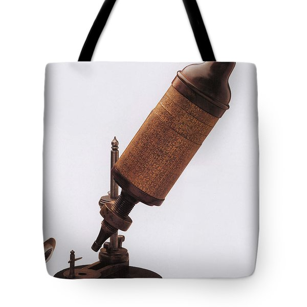 Hookes Microscope Tote Bag by Photo Researchers