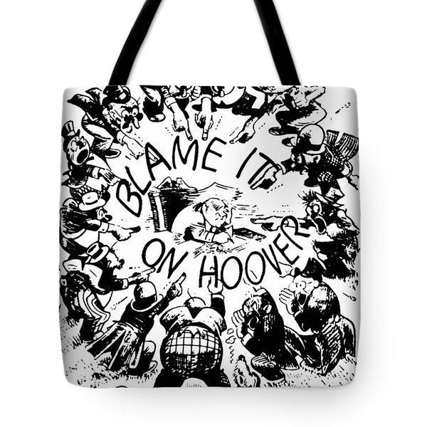 Hoover Cartoon, 1931 Tote Bag by Granger
