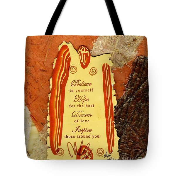 Hope 4 the BEST Tote Bag by Angela L Walker