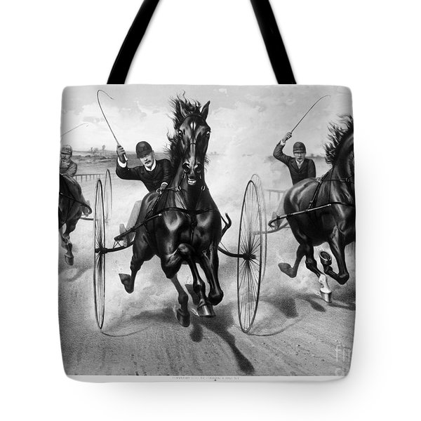 Horse Racing, 1890 Tote Bag by Granger