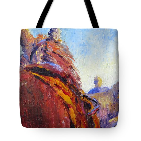 Horse Trainer Tote Bag by Terry  Chacon