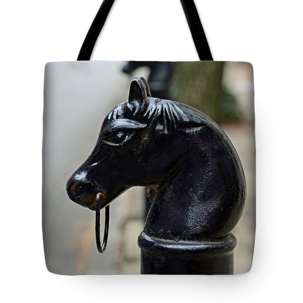 Horses on Delancey Street Tote Bag by Lisa  Phillips