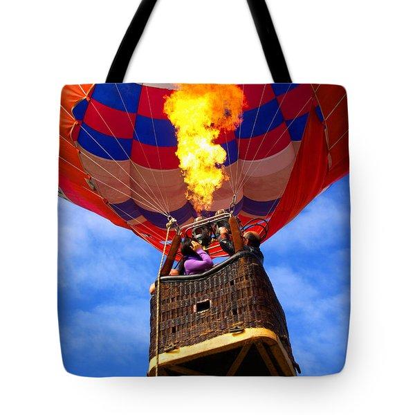Hot Air Balloon Tote Bag by Carlos Caetano