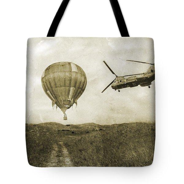 Hot Air Cool Air Tote Bag by Betsy Knapp