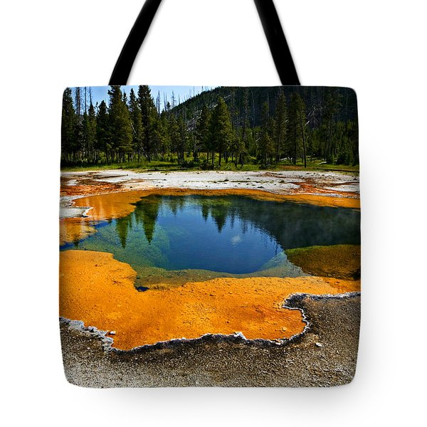 Hot Springs Yellowstone Tote Bag by Garry Gay