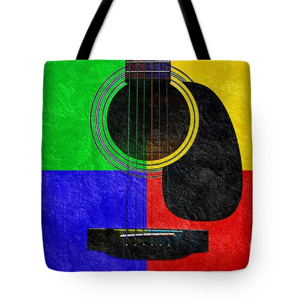 Hour Glass Guitar 4 Colors 1 Tote Bag by Andee Design