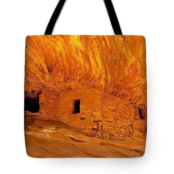 House on Fire Ruin Tote Bag by Bob and Nancy Kendrick