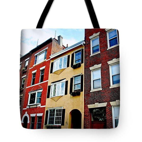 Houses in Boston Tote Bag by Elena Elisseeva