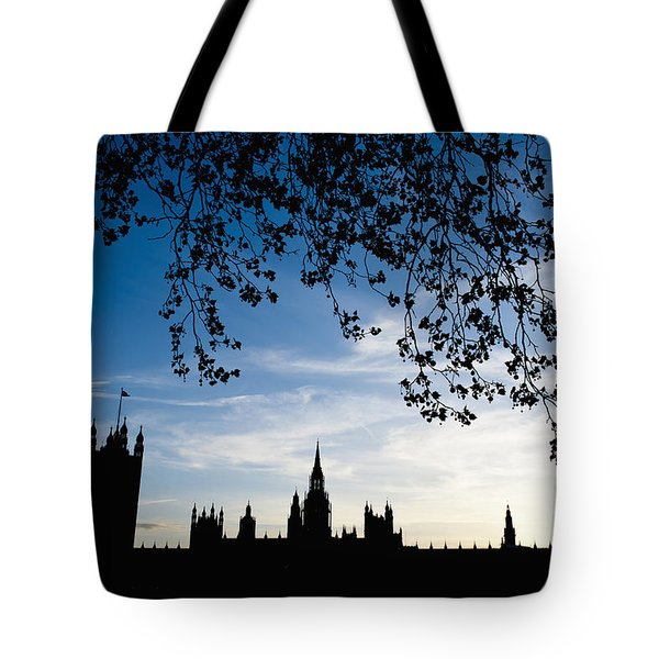 Houses Of Parliament Silhouette Tote Bag by Axiom Photographic