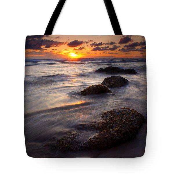 Hug Point Tides Tote Bag by Mike  Dawson