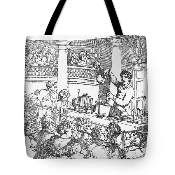 Humphrey Davy Lecturing, 1809 Tote Bag by Science Source