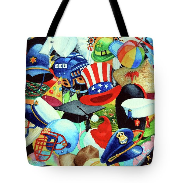 Hundreds of Hats Tote Bag by Hanne Lore Koehler