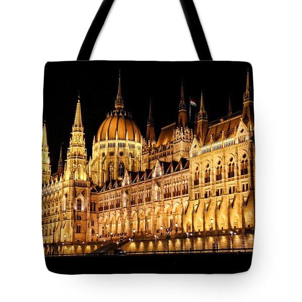 Hungarian Parliament Building Tote Bag by Mariola Bitner