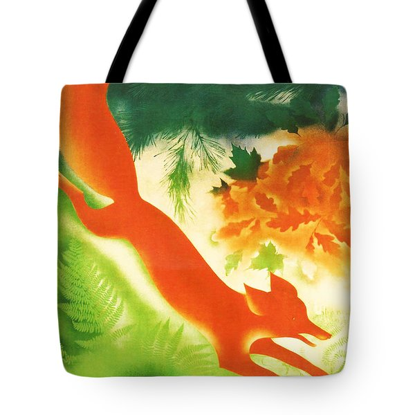 Hunting In The Ussr Tote Bag by Nomad Art And  Design