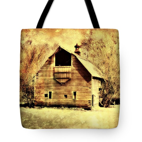 Hwy 20 Barn Tote Bag by Julie Hamilton