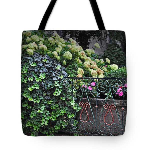 Hydrangeas Salzburg Tote Bag by Mary Machare