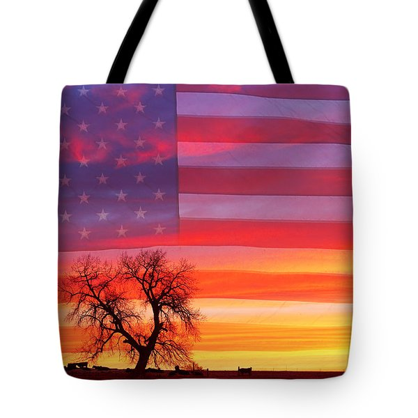 I Am Thankful To Be An American Tote Bag by James BO  Insogna