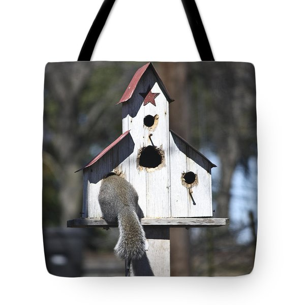 I Can Almost Fit Tote Bag by Teresa Mucha