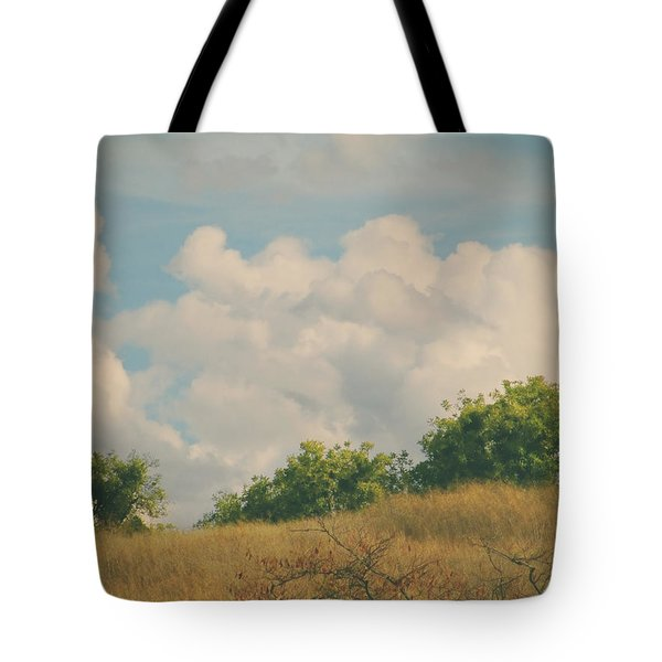 I Exhale and Tell Myself to Smile Tote Bag by Laurie Search