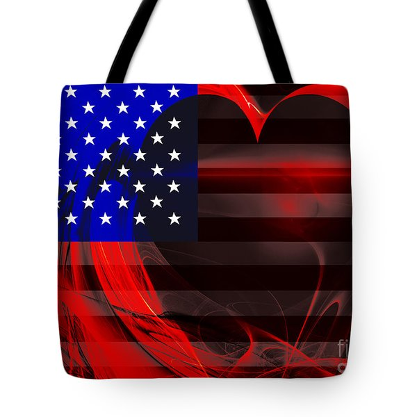 I Love America Tote Bag by Wingsdomain Art and Photography