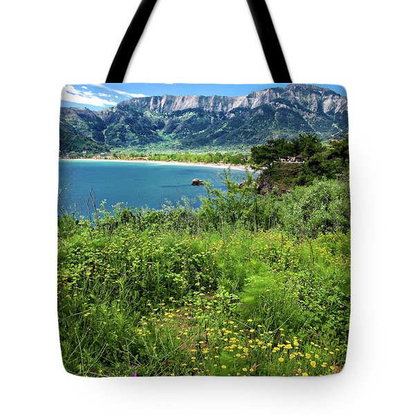 I Love The Greek Islands Tote Bag by Meirion Matthias