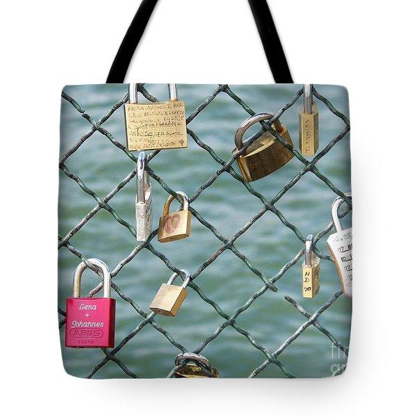 I Love You Paris Tote Bag by Francoise Leandre
