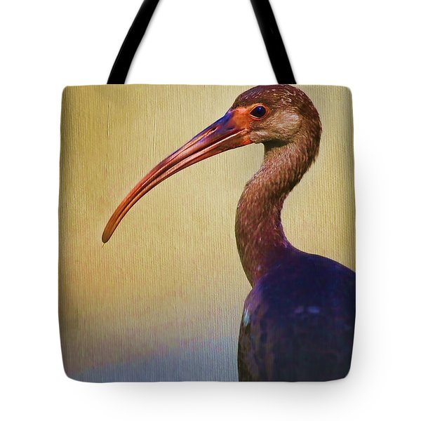Ibis Nature Pose Tote Bag by Deborah Benoit