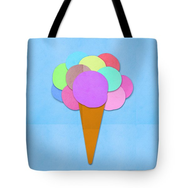 Ice Cream On Hand Made Paper Tote Bag by Setsiri Silapasuwanchai