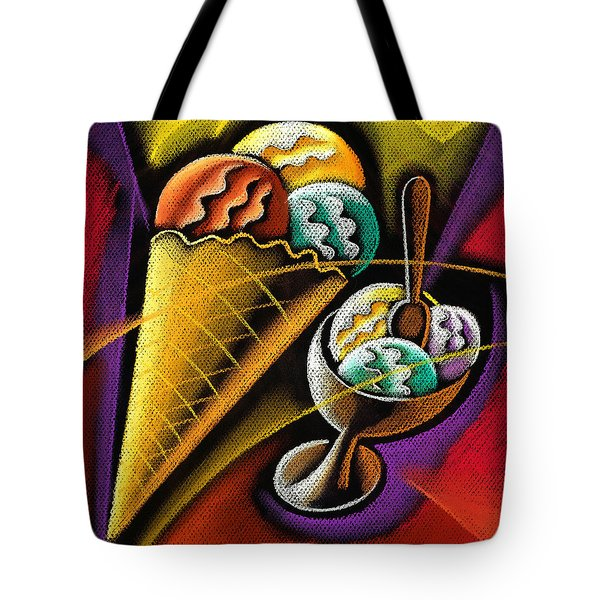 Icecream Tote Bag by Leon Zernitsky