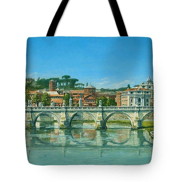 Il Fiumi Tevere Roma Tote Bag by Richard Harpum