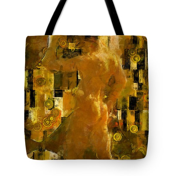 I'm Waiting For You    Male Tote Bag by Kurt Van Wagner