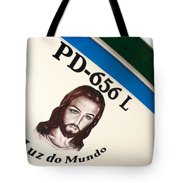 Image Of Jesus Tote Bag by Gaspar Avila