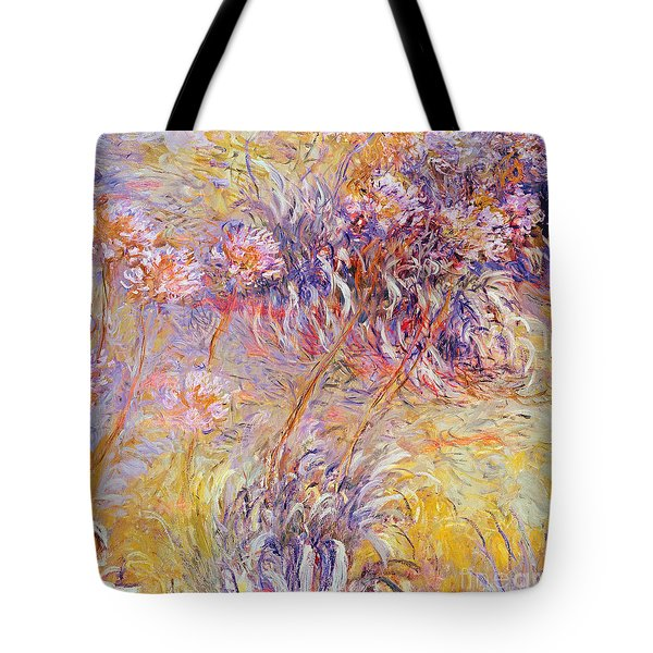 Impression - Flowers Tote Bag by Claude Monet