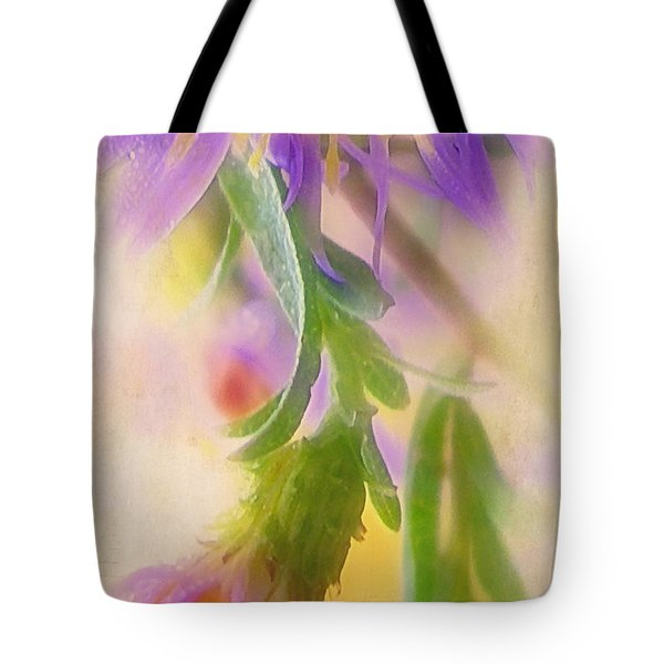 Impression Of Asters Tote Bag by Judi Bagwell