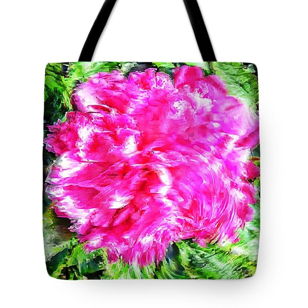 Impressionistic  Peony Tote Bag by Barbara Griffin