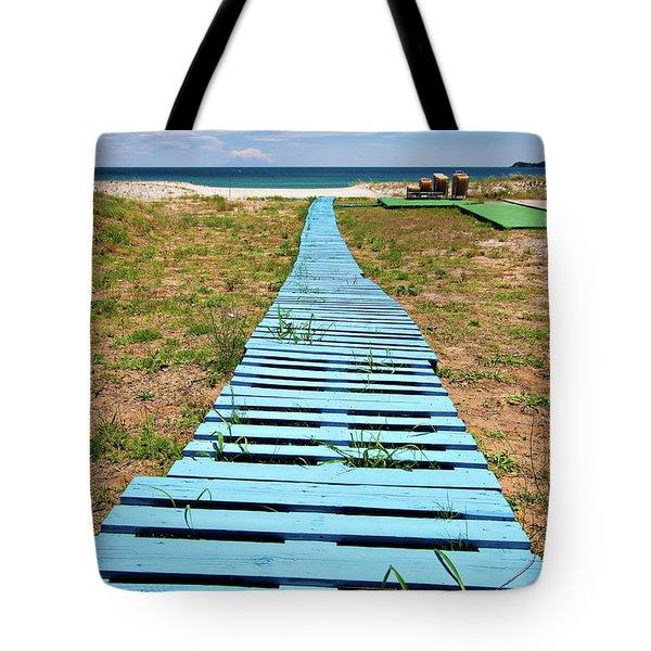 Improvised Boardwalk Tote Bag by Meirion Matthias