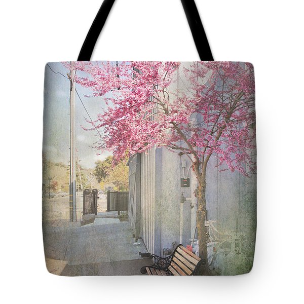 In A Small Town Tote Bag by Laurie Search