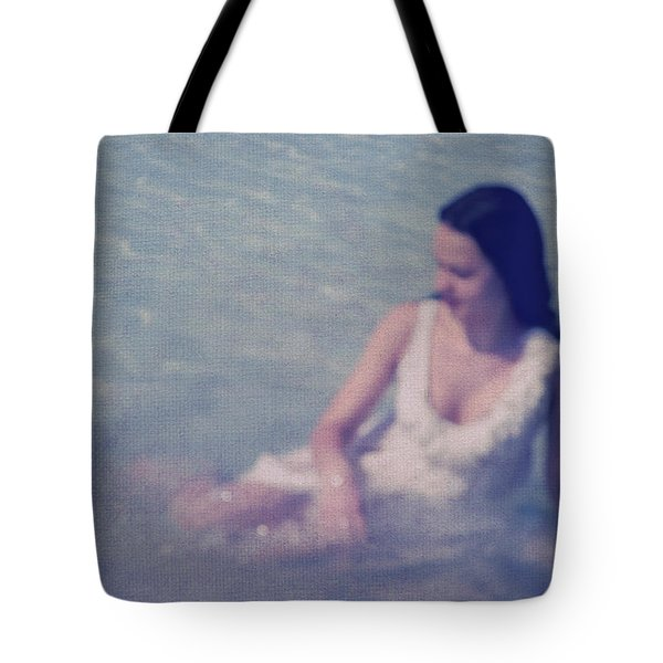 In Blue. Impressionism Tote Bag by Jenny Rainbow
