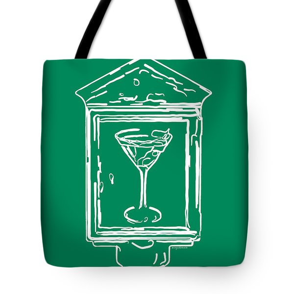 In Case Of Emergency - Drink Martini - Green Tote Bag by Wingsdomain Art and Photography