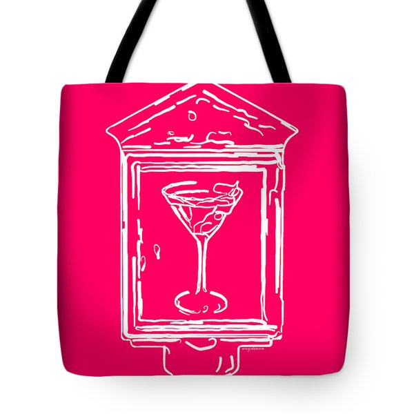 In Case Of Emergency - Drink Martini - Pink Tote Bag by Wingsdomain Art and Photography