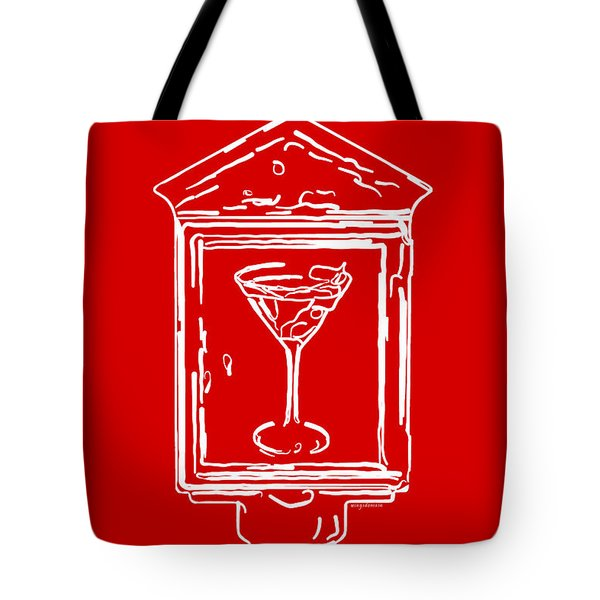 In Case Of Emergency - Drink Martini - Red Tote Bag by Wingsdomain Art and Photography