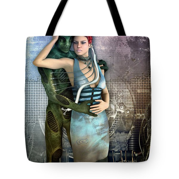 In Love With An Alien Tote Bag by Jutta Maria Pusl
