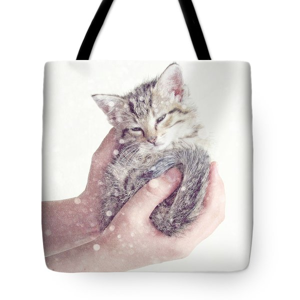 In Safe Hands  Tote Bag by Amy Tyler