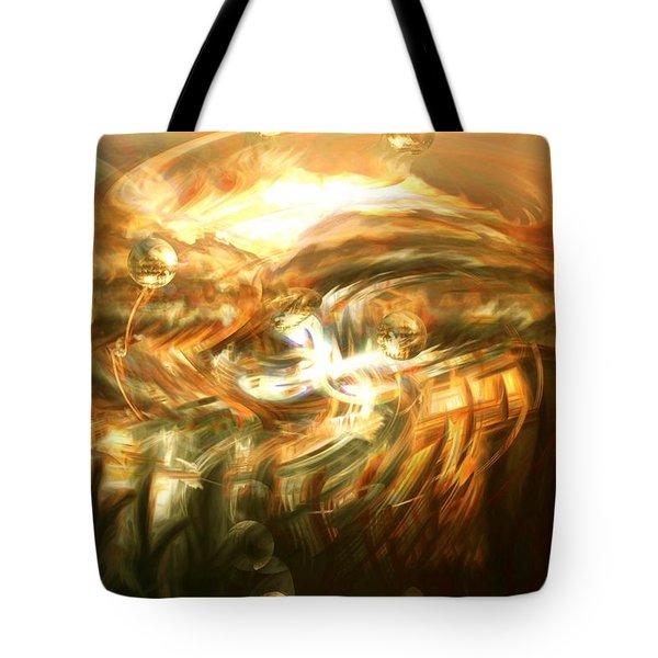 In The End Tote Bag by Linda Sannuti
