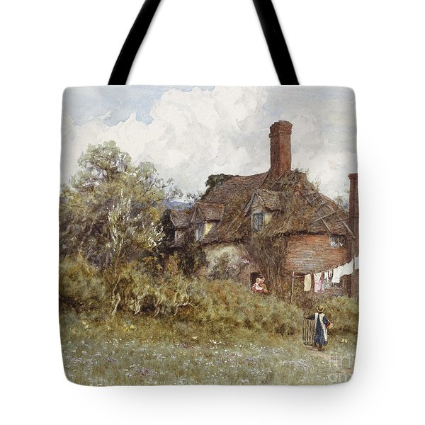 In The Spring Tote Bag by Helen Allingham