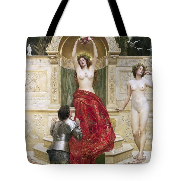 In The Venusburg Tote Bag by John Collier